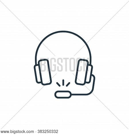 headphones icon isolated on white background from racing collection. headphones icon trendy and mode