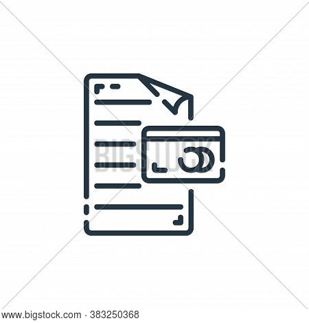 credit card icon isolated on white background from documents collection. credit card icon trendy and