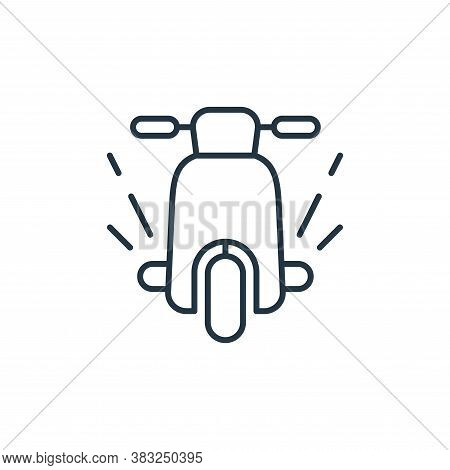 motorbike icon isolated on white background from racing collection. motorbike icon trendy and modern