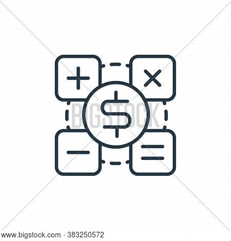 calculator icon isolated on white background from money collection. calculator icon trendy and moder