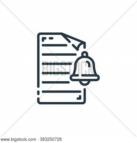 notification icon isolated on white background from documents collection. notification icon trendy a