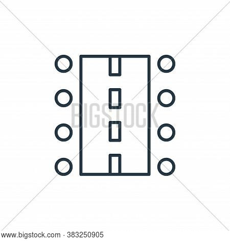 road icon isolated on white background from racing collection. road icon trendy and modern road symb
