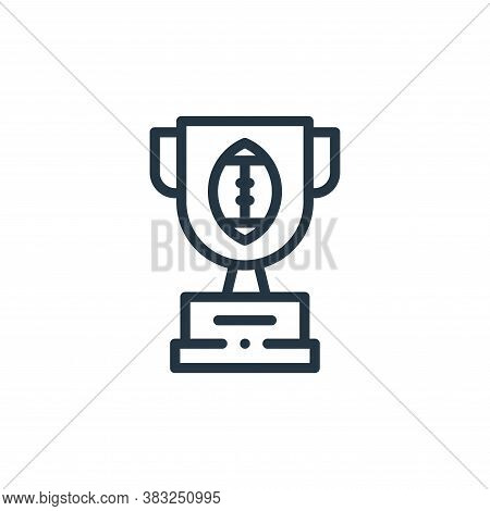 trophy icon isolated on white background from american football collection. trophy icon trendy and m