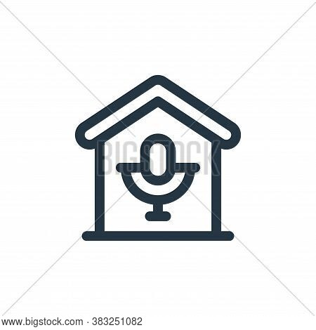 microphone icon isolated on white background from smart home collection. microphone icon trendy and