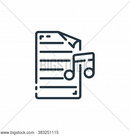 music icon isolated on white background from documents collection. music icon trendy and modern musi