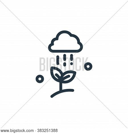 cloud icon isolated on white background from spring collection. cloud icon trendy and modern cloud s