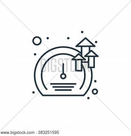 meter icon isolated on white background from strategy collection. meter icon trendy and modern meter