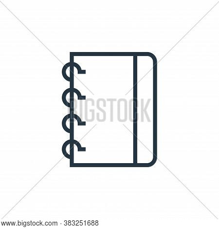 notebook icon isolated on white background from book and document collection. notebook icon trendy a