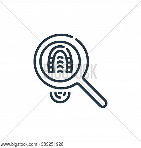 footprint icon isolated on white background from law and justice collection. footprint icon trendy a