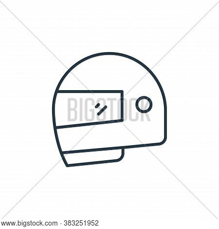 helmet icon isolated on white background from racing collection. helmet icon trendy and modern helme