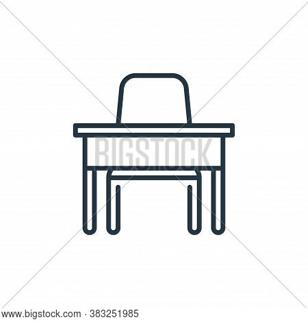 desk chair icon isolated on white background from education collection. desk chair icon trendy and m