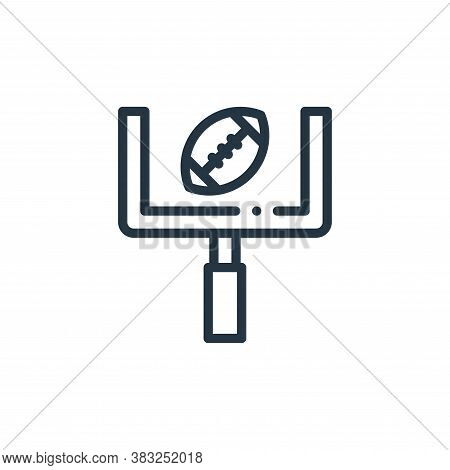 goal post icon isolated on white background from american football collection. goal post icon trendy