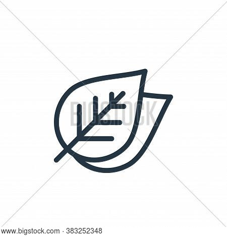 leaves icon isolated on white background from spring collection. leaves icon trendy and modern leave