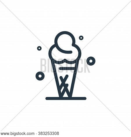 ice cream icon isolated on white background from spring collection. ice cream icon trendy and modern