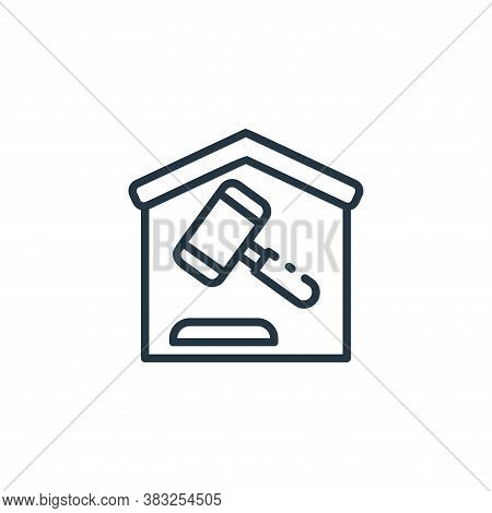 auction icon isolated on white background from finance collection. auction icon trendy and modern au