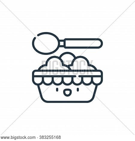 food icon isolated on white background from carnival collection. food icon trendy and modern food sy
