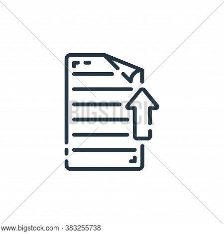 upload icon isolated on white background from documents collection. upload icon trendy and modern up