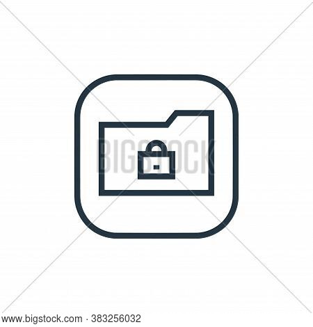 lock icon isolated on white background from files and folders collection. lock icon trendy and moder