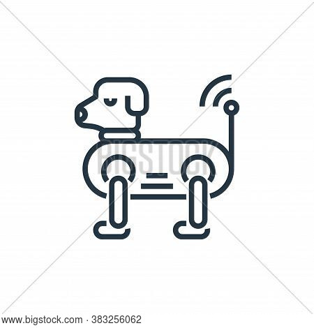 dog icon isolated on white background from artificial intelligence collection. dog icon trendy and m
