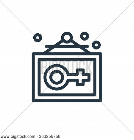 gender icon isolated on white background from women day collection. gender icon trendy and modern ge