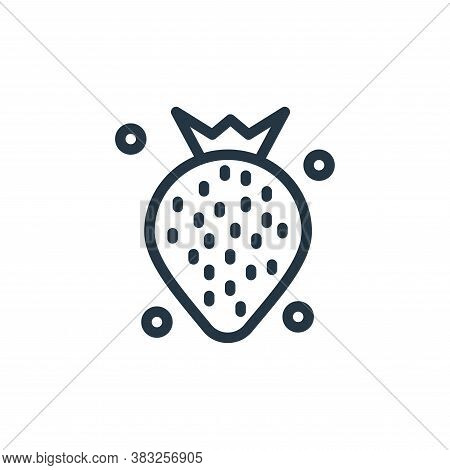 strawberry icon isolated on white background from spring collection. strawberry icon trendy and mode