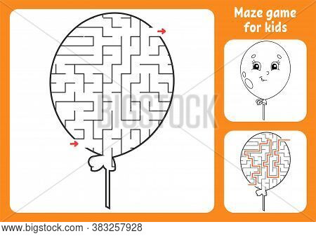 Abstract Maze. Game For Kids. Puzzle For Children. Labyrinth Conundrum. Find The Right Path. Educati
