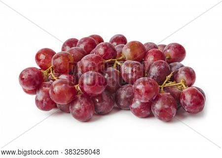 Ripe grapes isolated on white background