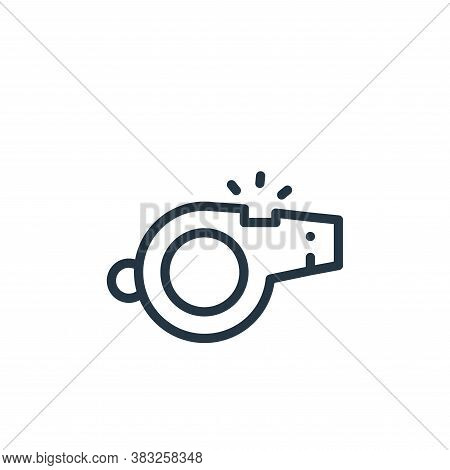whistle icon isolated on white background from american football collection. whistle icon trendy and