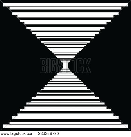 Abstract Frame Classic Perspective Stairs To The Light Black On Transparent Background