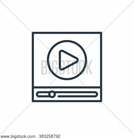 video player icon isolated on white background from education collection. video player icon trendy a
