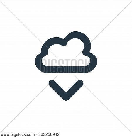 cloud download icon isolated on white background from px network and communication collection. cloud