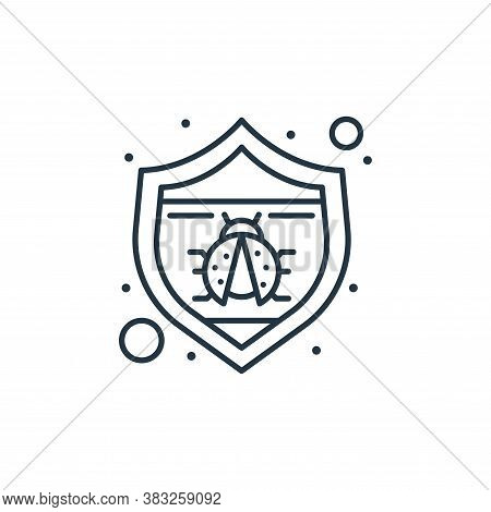 antivirus icon isolated on white background from seo collection. antivirus icon trendy and modern an