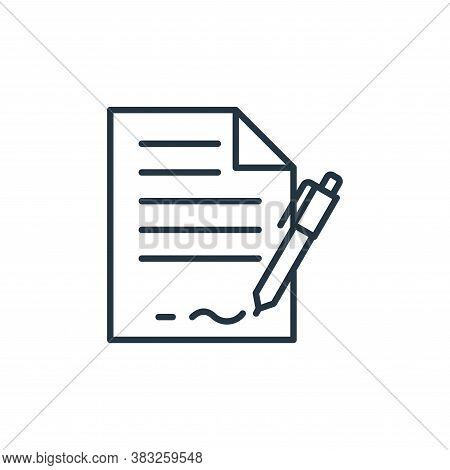 contract icon isolated on white background from law collection. contract icon trendy and modern cont
