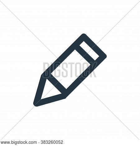 pencil icon isolated on white background from business and management collection. pencil icon trendy
