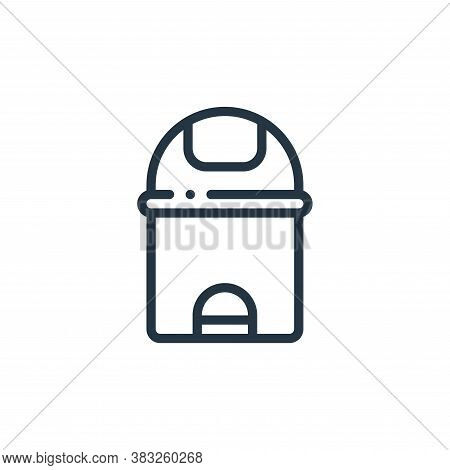 trash can icon isolated on white background from furniture collection. trash can icon trendy and mod