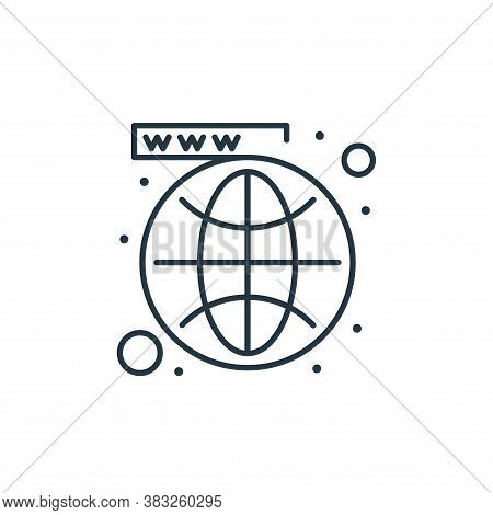 globe icon isolated on white background from seo collection. globe icon trendy and modern globe symb