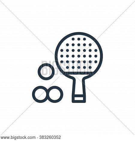 ping pong icon isolated on white background from sports collection. ping pong icon trendy and modern
