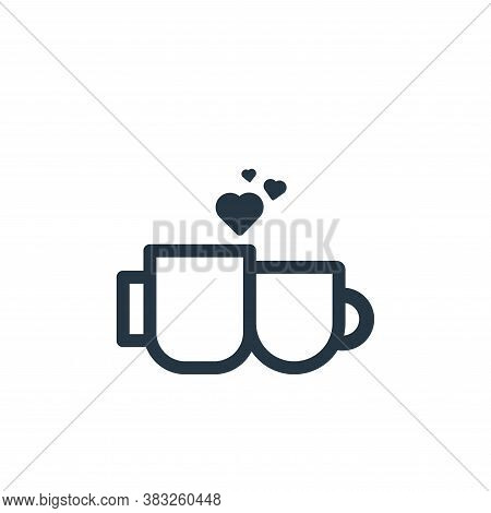 cup icon isolated on white background from valentine collection. cup icon trendy and modern cup symb