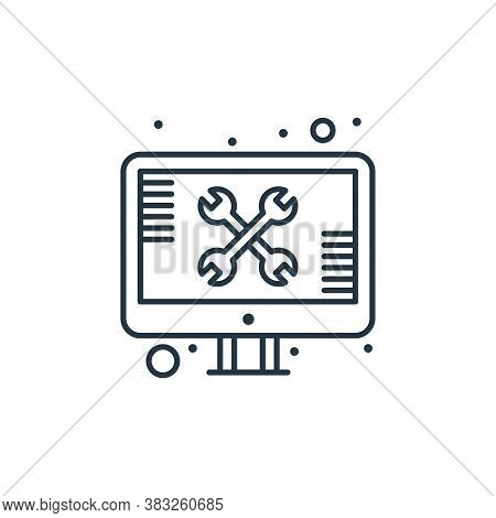 repair icon isolated on white background from web hosting collection. repair icon trendy and modern