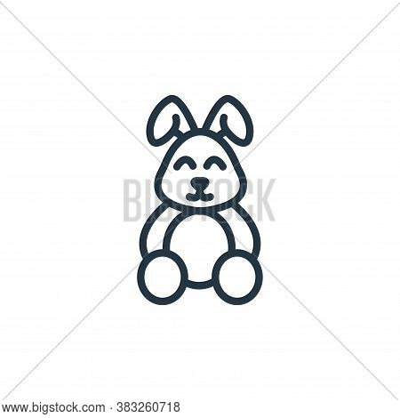 bunny icon isolated on white background from easter collection. bunny icon trendy and modern bunny s