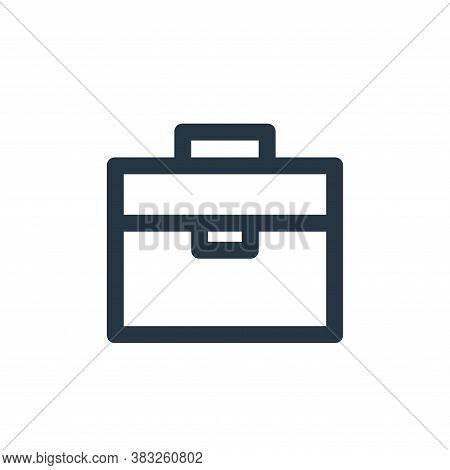 briefcase icon isolated on white background from business and management collection. briefcase icon