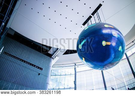 Tokyo / Japan - March 15, 2019: Geo-cosmos, A Simulation Globe Inside The National Museum Of Emergin