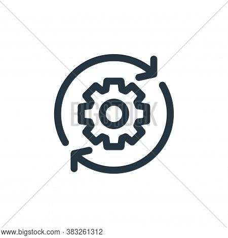 settings icon isolated on white background from customer service collection. settings icon trendy an