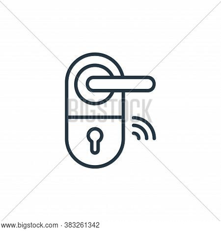 door knob icon isolated on white background from smarthome collection. door knob icon trendy and mod
