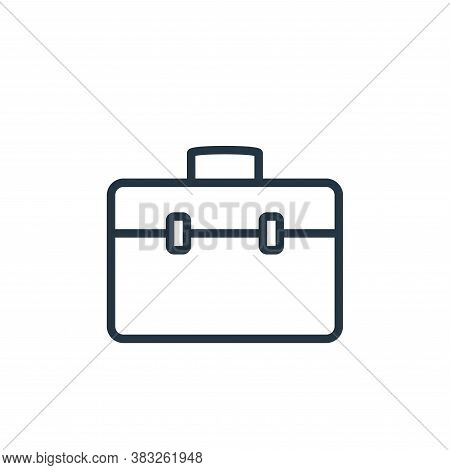 briefcase icon isolated on white background from busines and finace collection. briefcase icon trend