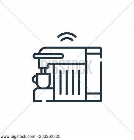 coffee machine icon isolated on white background from smarthome collection. coffee machine icon tren