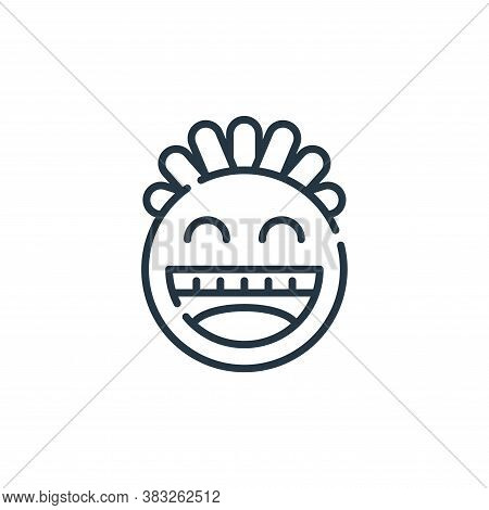smiley icon isolated on white background from friendship collection. smiley icon trendy and modern s