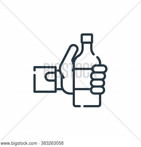 drink icon isolated on white background from friendship collection. drink icon trendy and modern dri