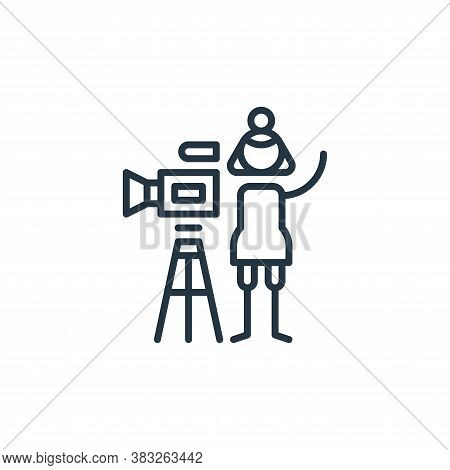 director icon isolated on white background from graphic design collection. director icon trendy and