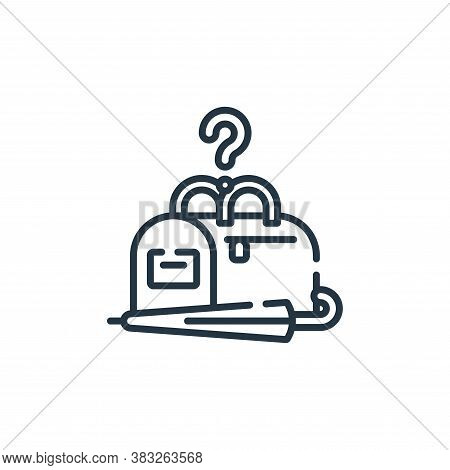 lost and found icon isolated on white background from public services collection. lost and found ico